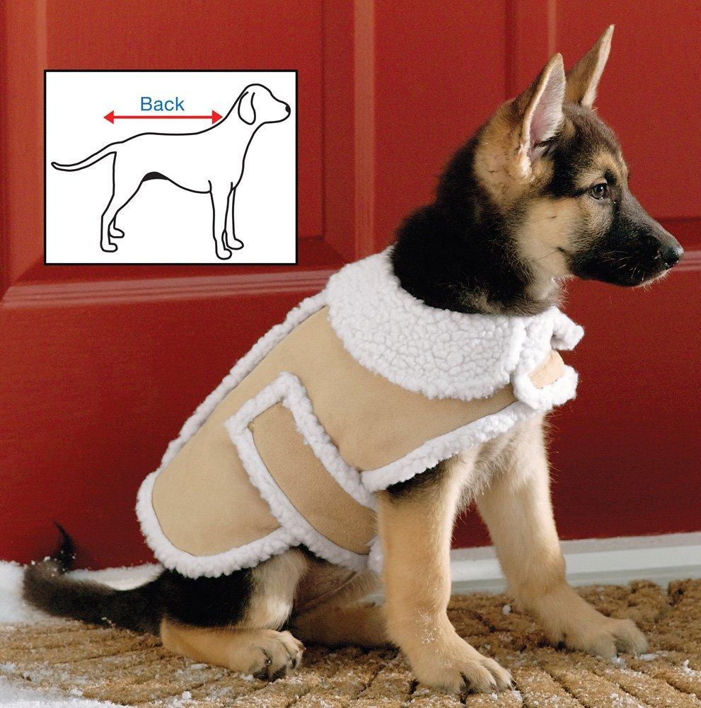 Shearling Fleece Dog Winter Coat Large