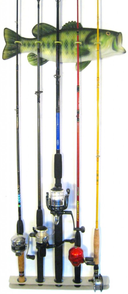Bass Fishing Rod Rack