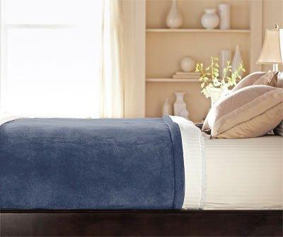 Queen Size Heated Blanket Luxurious Velvet Plush