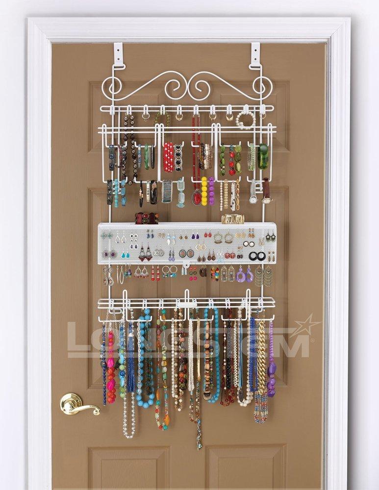 Overdoor Wall Jewelry Organizer