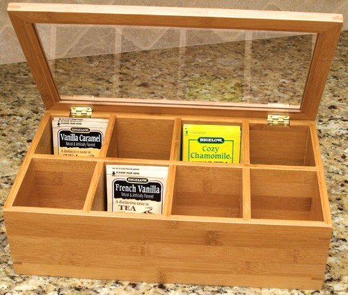 Lipper Divided Bamboo Tea Box