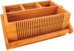 Totally Bamboo Lattice Flatware Caddy