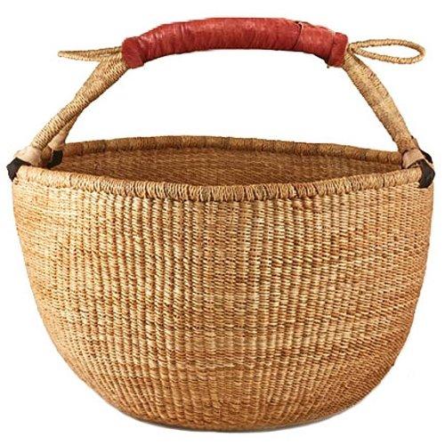 Bolga Market Tote Storage Basket