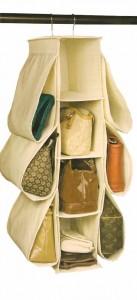 Richards Homewares Hanging Handbag Organizer-Canvas