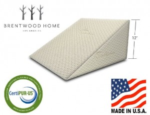 Brentwood Therapeutic Foam Bed Wedge Sleep Pillow