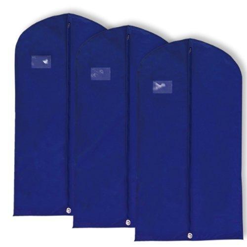 Hangerworld Pack of 3 Breathable Navy Blue
