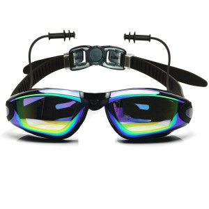 Ipow Anti-fog Mirrored Silicone seal watertight Swim Swimming Goggles
