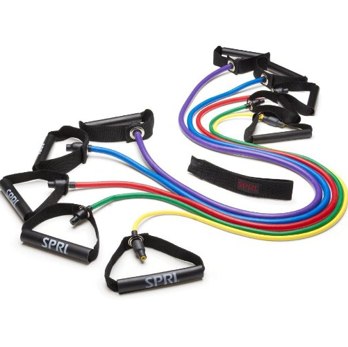 SPRI Xertube Resistance Band Exercise Cords with Door Attachment