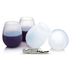 Four Flexible Silicone Wine Glass by hölm