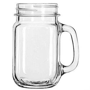 Libbey Drinking Jar with Handle