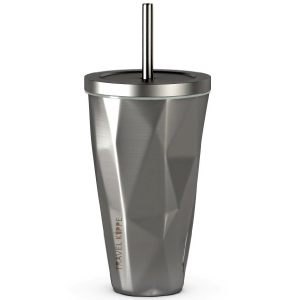 Stainless Steel Cup With Straw