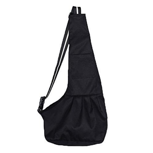 Proimb Black Oxford Cloth Sling Pet Dog Cat Carrier Bag