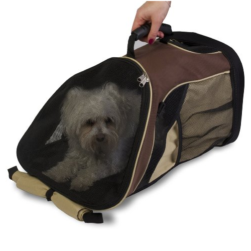 Easy Access Zippered Top and Bottom Backpack Pet Carrier