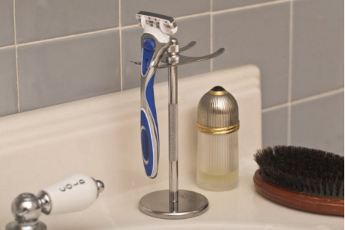 Deluxe Chrome Razor and Brush Stand by Splendid Shave