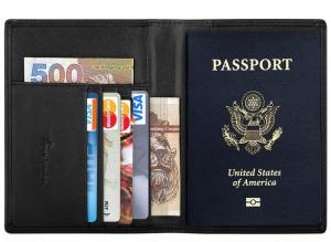 Travelambo RFID Blocking Genuine Leather Passport Holder Wallet Cover Case