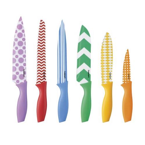 Cuisinart 12-Piece Printed Color Knife Set