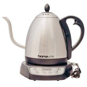 Bonavita 1-Liter Variable Temperature Digital Electric Gooseneck Kettle