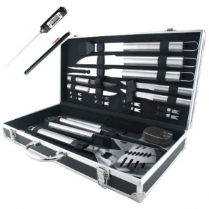 Teikis® 19-Piece Deluxe Stainless Steel BBQ Tool Set