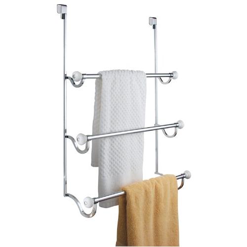InterDesign York Over-the-Shower-Door 3-Bar Towel Rack