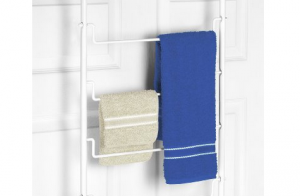 Over The Door Towel Rack - Simple solution for extra hanging storage space