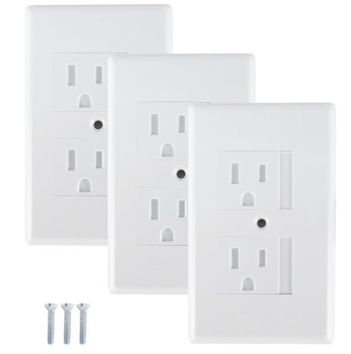 Mommy's Helper - Safe Plate Electrical Outlet Covers Standard, White - 3 Pk