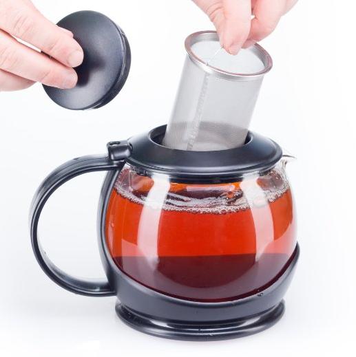 bobuCuisine Stunning Glass Teapot Globe with Cozy Warmer