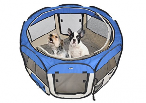 Portable Pet Playpen - Keep your furry friend safe and happy