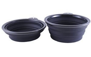 Collapsible Dog Bowl with Carabiner - For every time you travel with pet