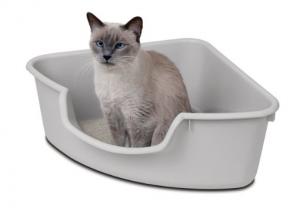 Corner Cat Litter Box - Reduce mess while saving space