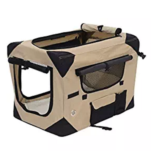 Pawhut Soft Sided Folding Crate Pet Carrier
