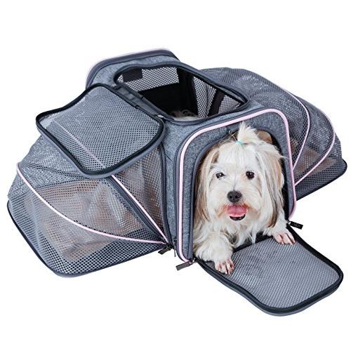 Petsfit Expandable Foldable Washable Travel Carrier