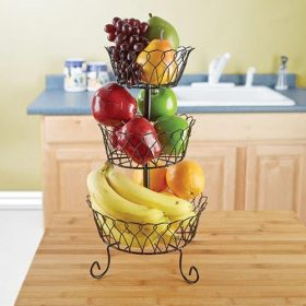5 Best 3 Tier Fruit Basket – Great space-saver in any kitchen
